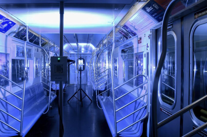 Lanzan en Nueva York programa piloto de luz ultravioleta para matar el covid-19 en el transporte público