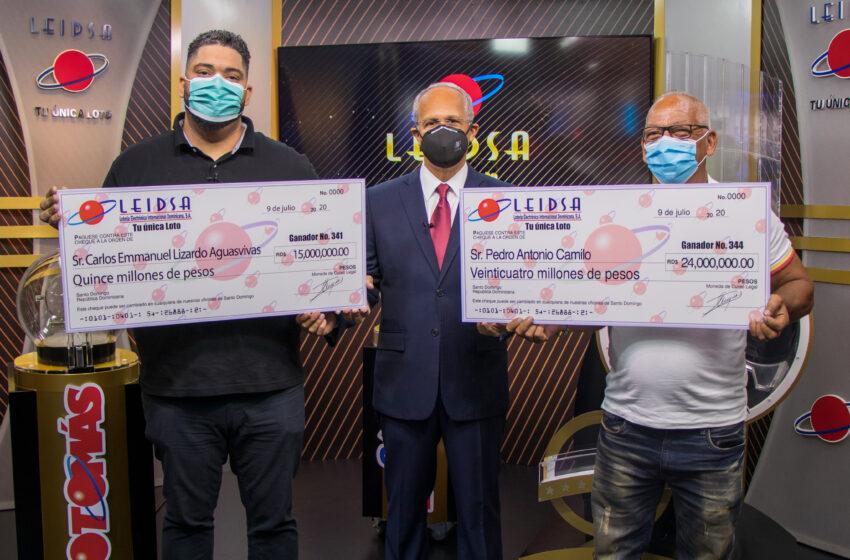 Leidsa entrega 39 millones de pesos a dos nuevos millonarios