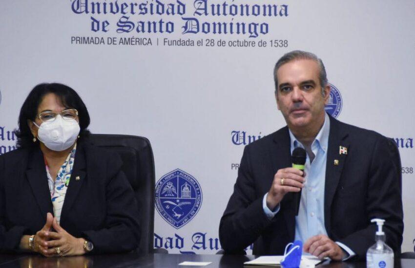 Presidente Abinader entrega RD$234 millones adicionales para mejorar conectividad de la UASD