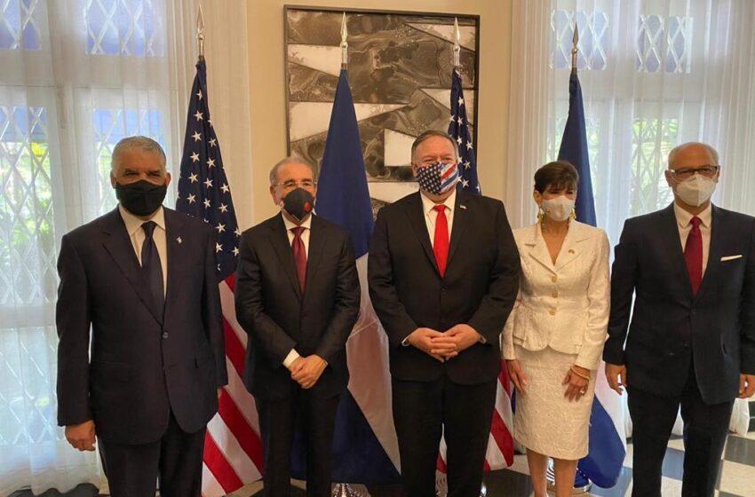 Danilo Medina se reúne con secretario de Estado de los Estados Unidos, Michael Pompeo