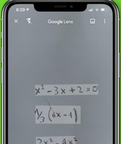 Google Lens ayuda con la matemática