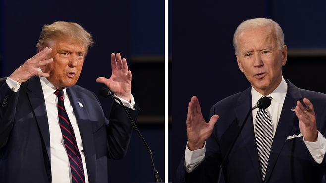Trump y Biden se preparan para su último debate