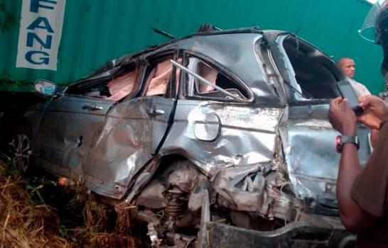 Al menos dos muertos durante accidente entre yipeta y patana en La Vega
