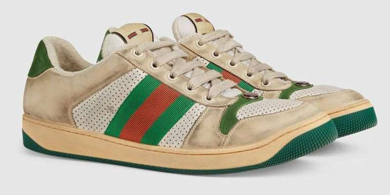 Así son los tenis sucios que Gucci vende en casi 20 mil pesos