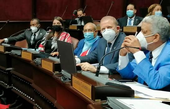 Omar Fernández y otros 16 diputados usan pañoleta azul en sesión de la Cámara Baja y se declaran «provida»