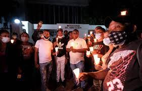 Exempleados del Minerd realizan vigilia por pago de prestaciones
