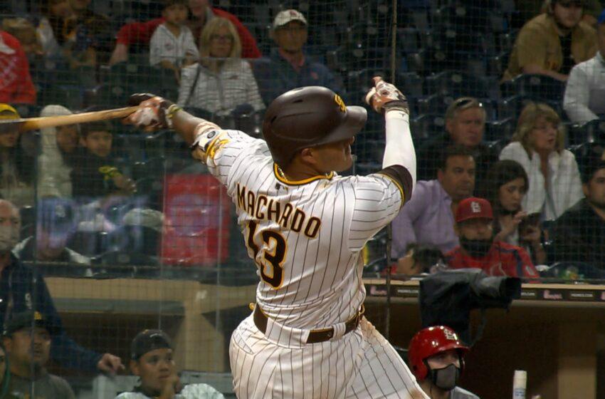 Padres barren a Dodgers con el jonrón 12 de Machado