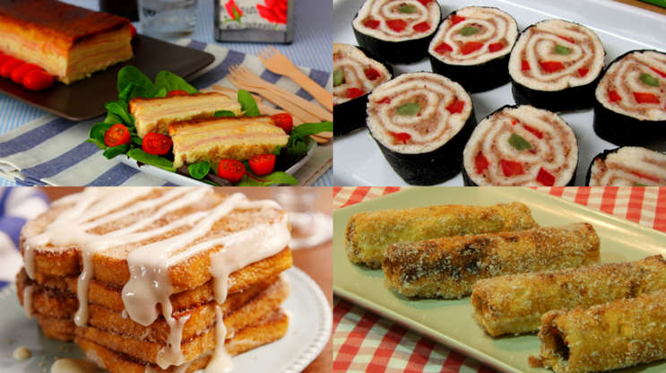 6 Increíbles recetas que puedes hacer con pan de molde y no sabías